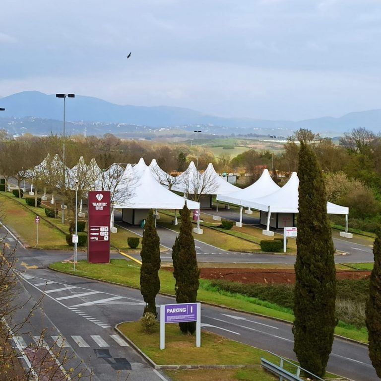 Vaccine site in Valmontone by Eurostands