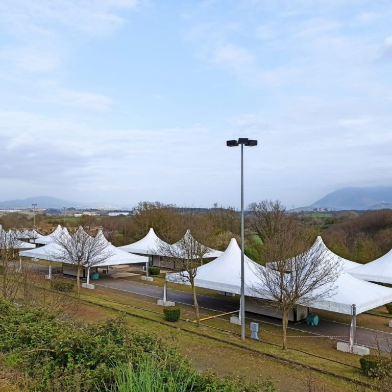 Eurostands sets up the largest drive-through vaccination site in Italy