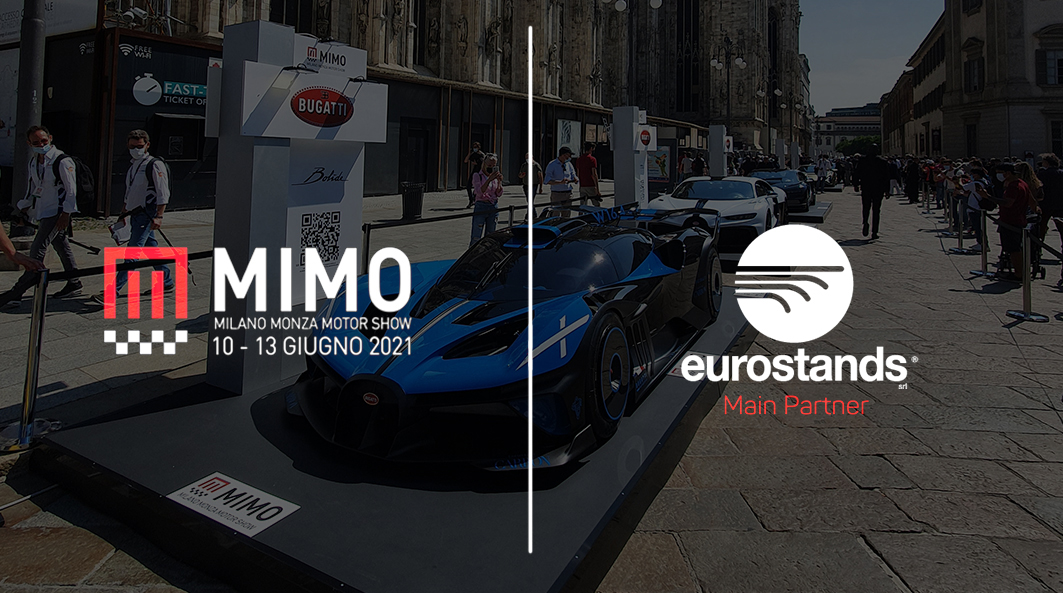 Setup for automotive by eurostands at MIMO Milan Monza Open-air Motor Show